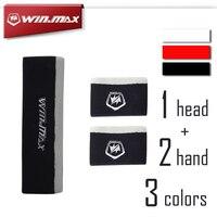 WINMAX 1 комплект спортивный напульсник (1 повязка на голову + 2 браслета) спандекс дышащая и эластичная хлопковая повязка на запястье