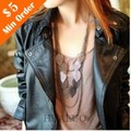 2016 Hot Sales Bohemian Multi-layered Tassels Leaves Long  Sweater Necklace #88N706