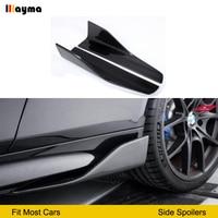 Углеродное волокно сбоку юбки для BMW E60 M5 F10 G30 F22 F23 F87 M2 F32 F33 F36 F82 M4 E90 E92 F30 M3 спортивный стиль сторона спойлер