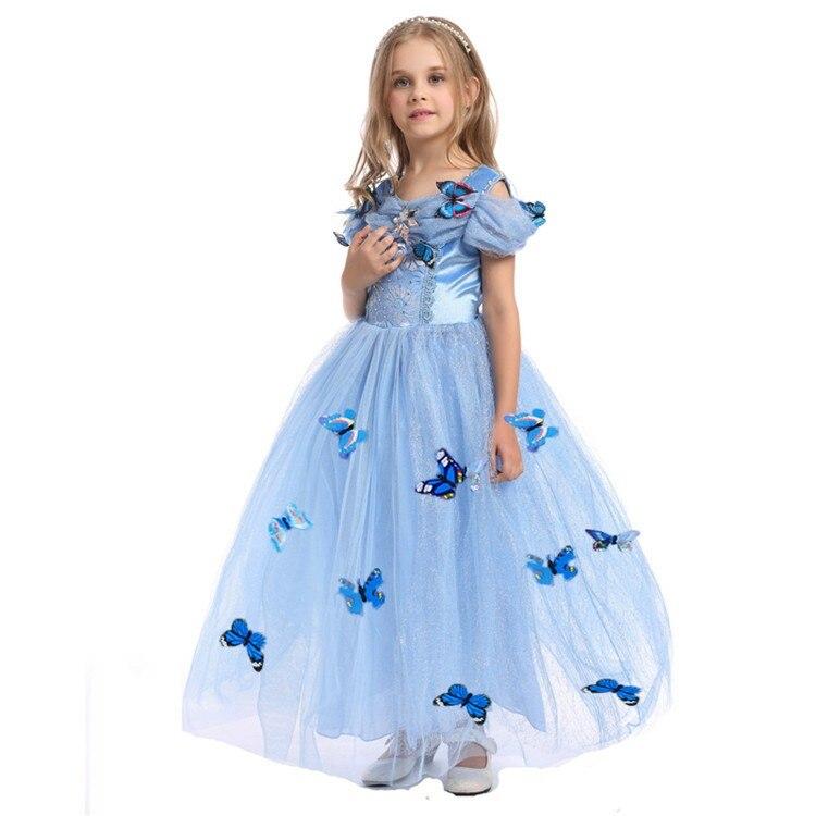 Cinderella Christmas.Baby Girl Halloween Rapunzel Princess Costume For Kids Cinderella Christmas Children Dresses For Girls Party Kids Clothes 8 10t