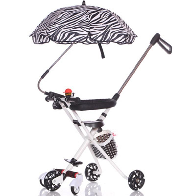 Multifonctionnel 3 en 1 luxe bébé poussette pliante poussette lumière transport ceinture costume pour couché siège couffin infantile chariot