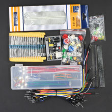 Generisches Teile Paket kit + 3 3 V 5V power module + MB-102 830 punkte Breadboard + 65 Flexible kabel + jumper draht box ohne fall cheap WeiKedz Generic Parts Package