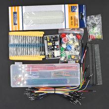 Ogólne części opakowanie zestaw + 3 3V 5V moduł zasilania + MB-102 830 punktów Breadboard + 65 przewody elastyczne + kabel mostkujący box bez obudowy tanie tanio WeiKedz Generic Parts Package