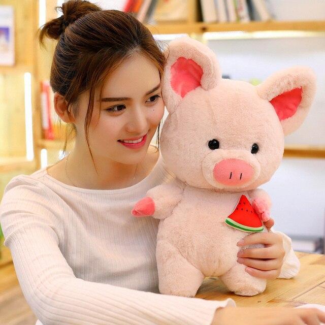 35/45 centímetros Macio Porco Cor de Rosa de Pelúcia e Adorável Brinquedo de Pelúcia Macia Bonito Porco Animal Bonecas Encantadoras para As Crianças Decoração do Quarto do bebê Apaziguar Brinquedo