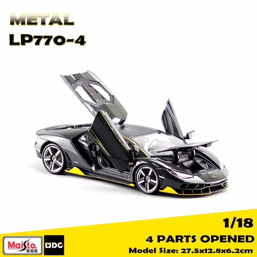 2017 NEW Maisto 1/18 Scale Metal Car Model LP770-4 Super Sports Vehicle Model For Collection 2017 new maisto 1 18 scale metal car