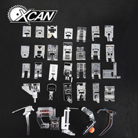 New Domestic Sewing Machine Presser Foot Feet Kit Set 32pcs Free Shipping For Brother Singer Janome