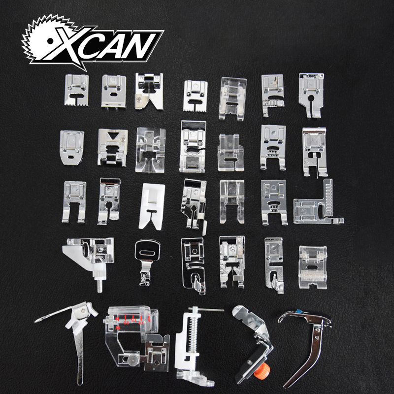 New Domestic Sewing Machine Presser Foot Feet Kit Set 32pcs Free Shipping For Brother Singer Janome flower stitch 3700l 5021l round stitch flower presser foot for brother singer janome pfaff viking sewing machine