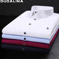 Dudalina Camisa Male Shirts Long Sleeve Men Shirt Brand Clothing Smart Casual Slim Fit Camisa Social
