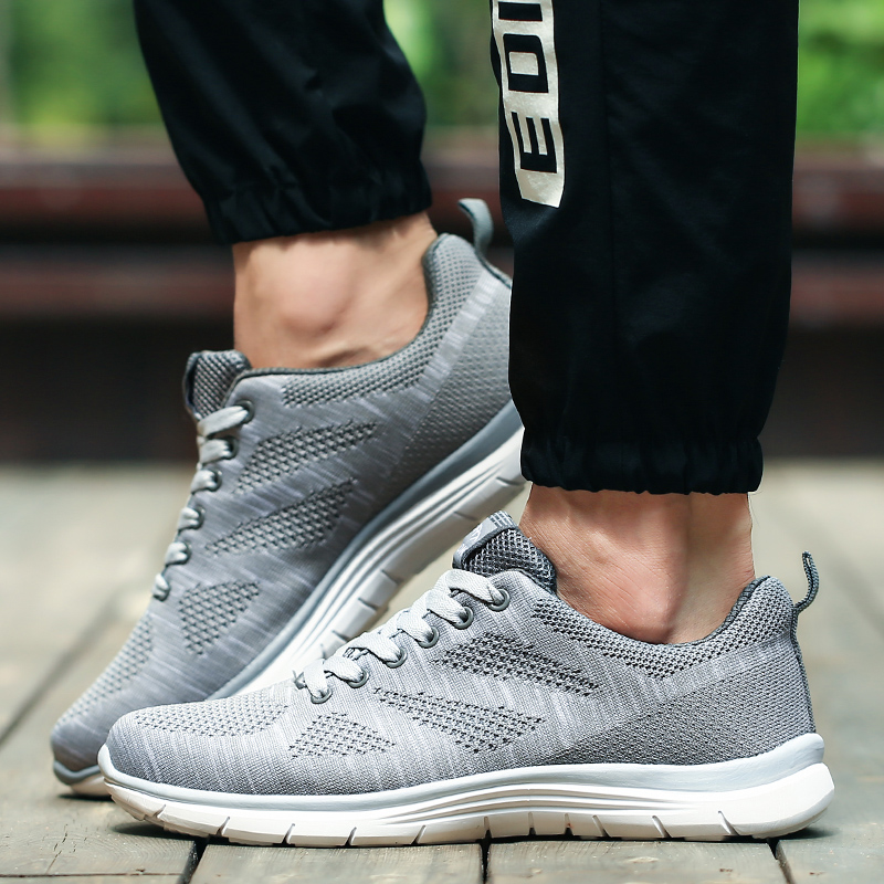 ФОТО New arrival brand mesh shoes light weight  mens casual shoes breathable quality outwalking sport walking flat size 39-44 L997M