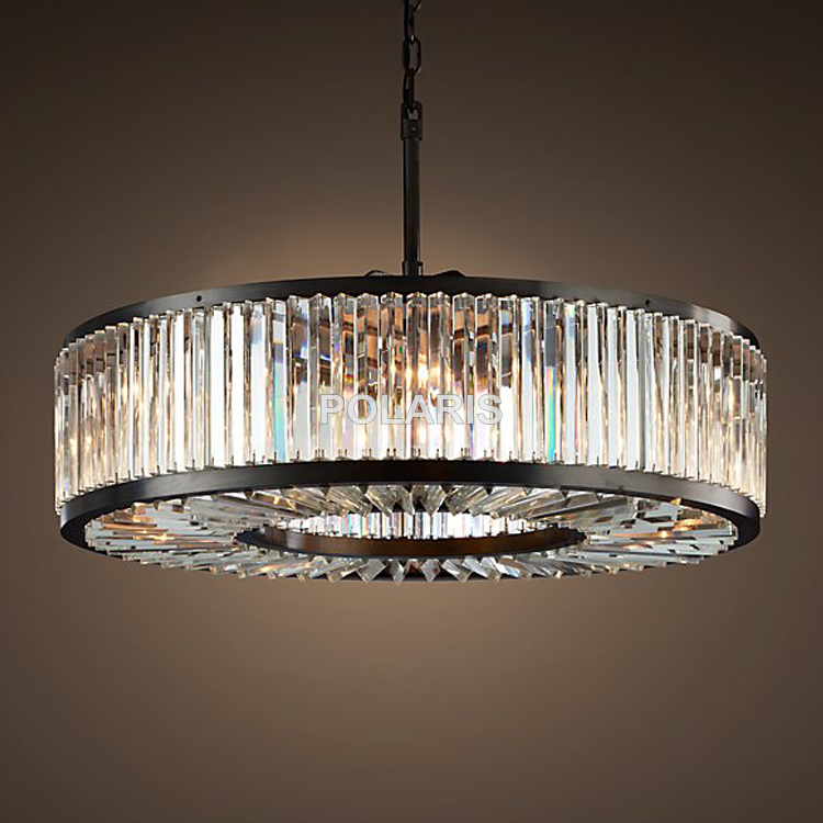 item with drum chandelier shade beaded pendant zoom light chrome crystal