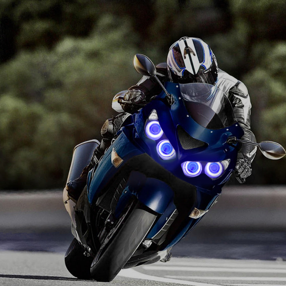 Kt Headlight For Kawasaki Ninja Zx 14r Zzr1400 Zx14r 2012 2016 Led Wiring Harness 2008 Zx14 Angel Eye Blue Demon Motorcycle Hid Projector Assembly On Alibaba