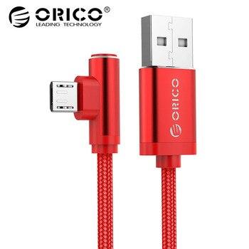 ORICO Micro USB C Szybkie Ładowanie Kabel 2.4 Nylon Kabel do Samsung Xiaomi Huawei iPhone Gry Gry Telefon Ładowarka kable