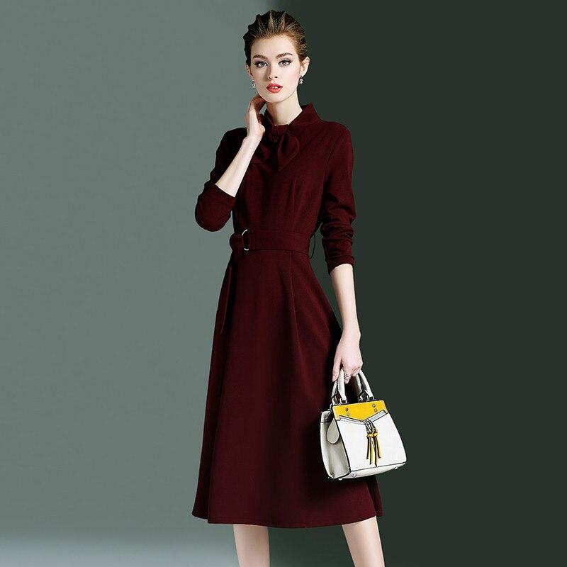 9c0d141ecfed 2019 Del Partito Coreano Blue Vestiti Vestito red Da Ufficio Convenzionale  Estate Zt2008 Abiti Elegante Delle ...