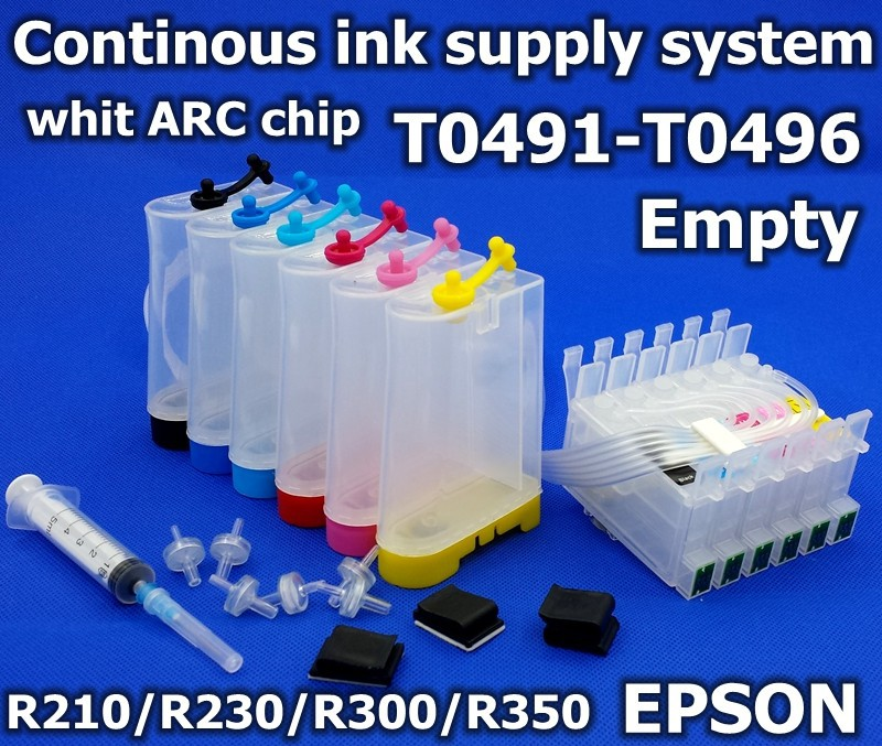 T0491-T0496 Auto reset sublimation ink CISS inkjet printer R200 R210 R220 R230 R300 R320 R340 R350 Continuous Ink Supply System continuous ink supply system for epson r220 more