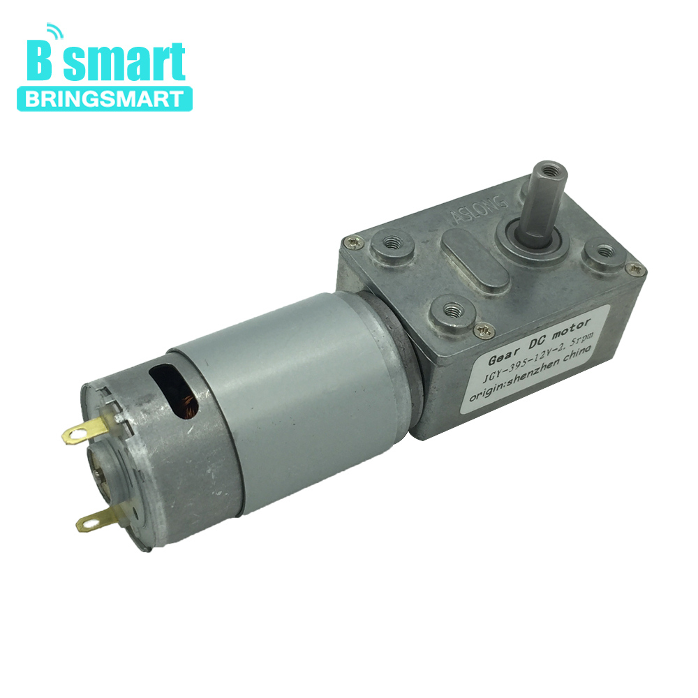 Bringsmart JGY-395 Worm Gear Motor DC 12 Volt Turbine Worm Reducer 12V Mini Reduction Gearbox Engine Self-locking Geared Motor bringsmart worm gear motor 12v dc stepper motors reducer self locking mini gearbox 24 volt micro electric tool a58sw 42by