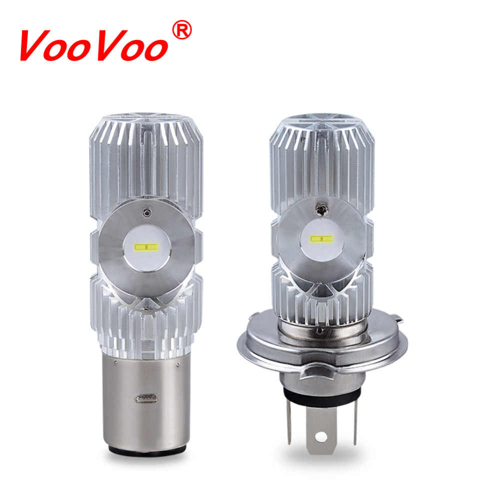 VooVoo H4 HS1 H6 BA20D Led Motorcycle Headlight Bulb Fog Light 20W 2400LM Hi Lo Lamp Scooter Accessories Moto Electric Car Light