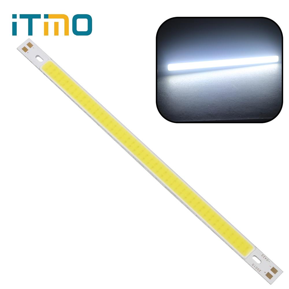 iTimo 200 x 10MM 12V-14V Warm White Pure White LED Strip Light Lamps Bulb Super Bright 10W 1000LM COB For DIY