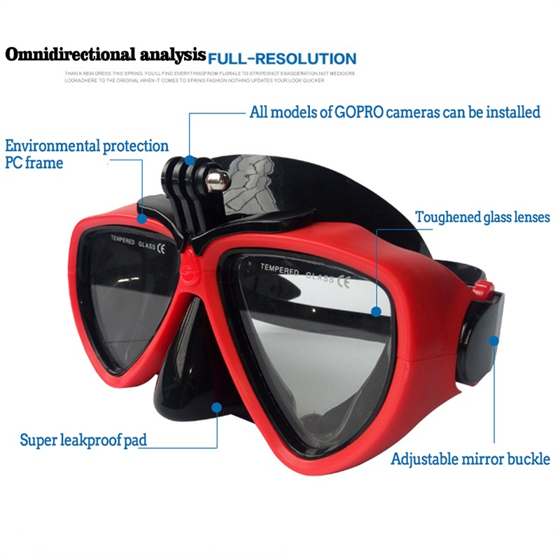 õUltimate DealGoggles-Mask Mask-Equipment Scuba Tempered-Glasses Diving Underwater-Camera Sports