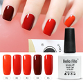 10ml 12 Red Series Color Nail  Polish Led Lamp Gorgeous Colors UV Gel Coscelia  UV Gel Resin Pigment Glitter Glue