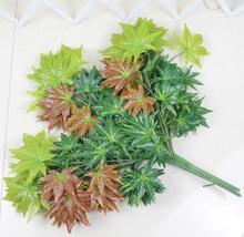 купить 12pcs Artificial multicolour Maple Leaf Branch For Plant Wall Background Wedding Home Hotal Office Bar Decorative по цене 1385.26 рублей