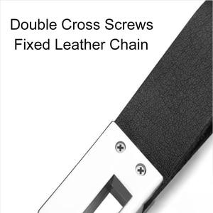 Personalisierte Leder 2 Ring Keychain Individuelles Logo Leder Herren Einfache Schlüssel ketten Halter Keyfob Schriftzug Schlüsselring Männer Zubehör