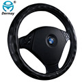 "Top Microfiber Leather Car Steering Wheel Cover Fit Steering-Wheel 14-15"" Black Brwon Beige Grey Especially Crocodile Pattern"