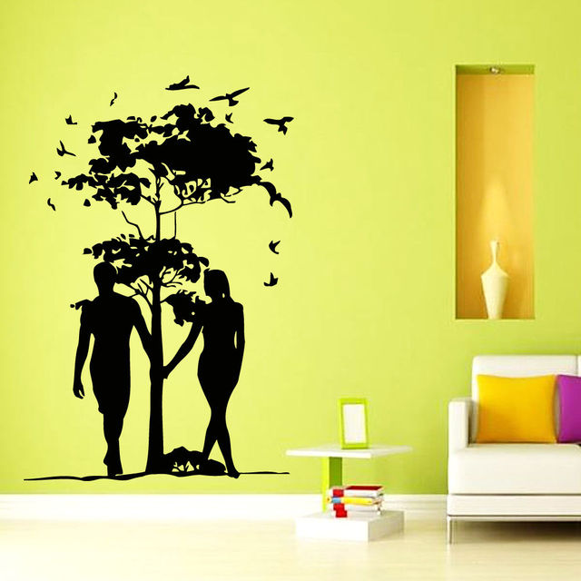 Wall Decals Vinyl Decal Sticker Art Mural Decor Lovers Love Tree ...
