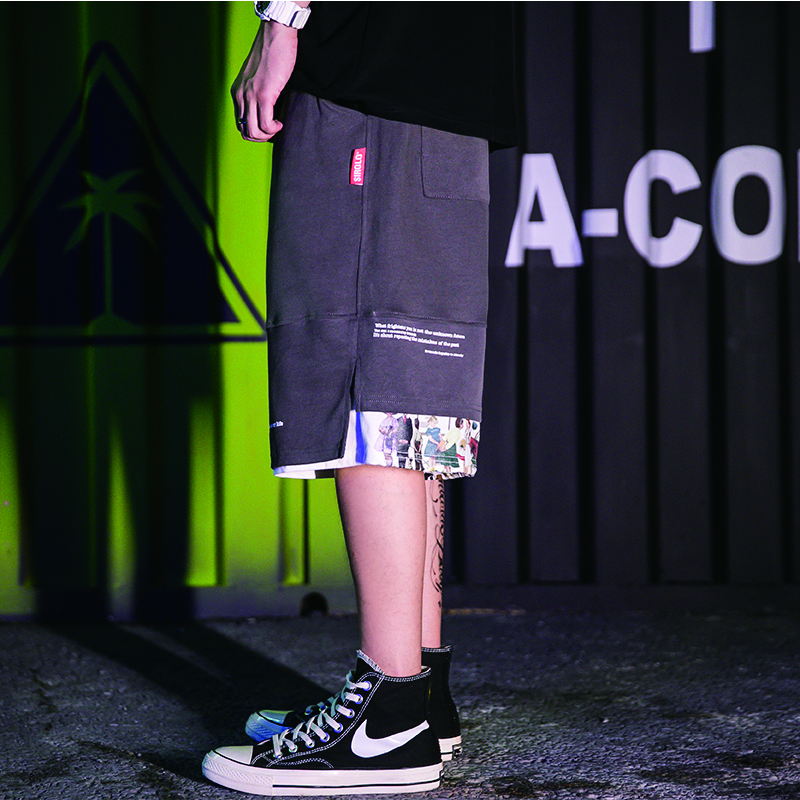 Hfnf 2019 Summe Rmens Clothing Casual Drawstring Shorts Men's Streetwear Breathable Trousers Short Male
