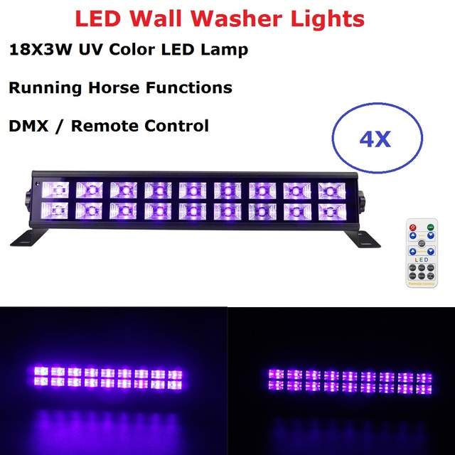 18X3W UV LED Wall Washer Lights 30W High Power Stage Light Bar Black Party Club Disco Perfect For Indoor/Outdoor Lighting Shows