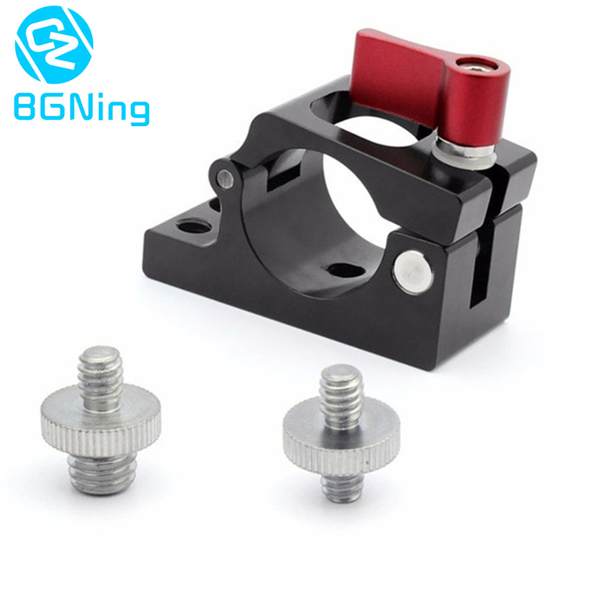 цена на Hot Shoe 25mm Tube Rod Clamp Holder Mount Adapter for DJI Ronin M Drone MX zhiyun feiyu Parts Monitor Bracket with 1/4 3/8 Screw