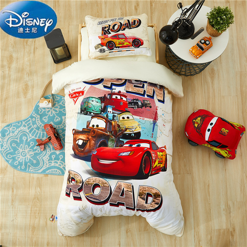 Disney Authentic Bedding Set For Baby Crib bed linen 3pcs set duvet cover bed sheet pillow case for baby.