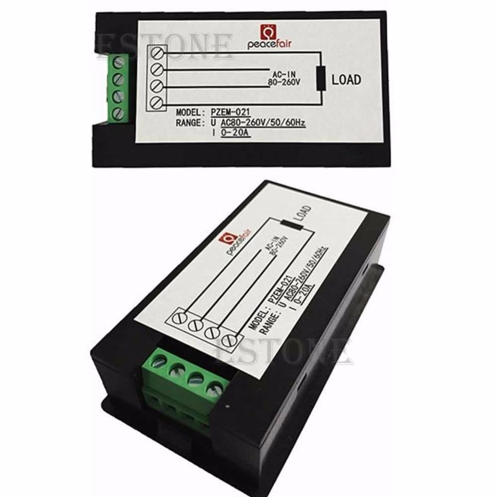 LCD digitální wattmetr volt watt ampérmetr voltmetr AC 80-260V 20A - Měřicí přístroje - Fotografie 3