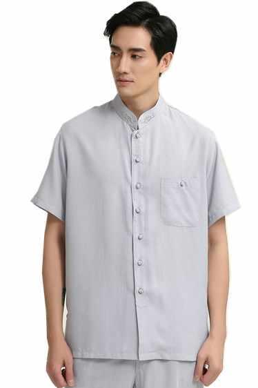 上海ストーリーリネンシャツ男性中国伝統的な男性服唐装中国服カンフートップ