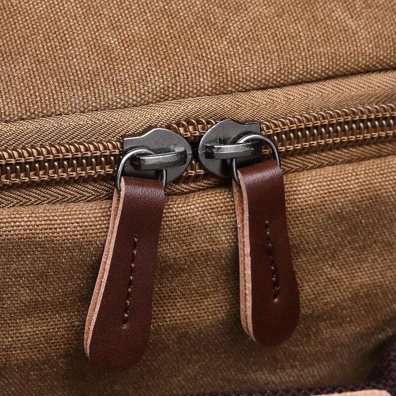 Купить с кэшбэком Men Laptop Backpack 15 Inch Rucksack Canvas School Bag Travel Backpacks for Teenage Male Notebook Bagpack Computer Knapsack Bags