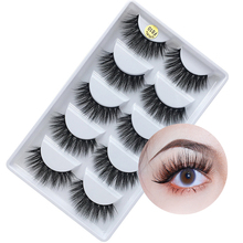MB Fashion 5 Pairs Lashes 3D Mink Eyelashe 100% Cruelty free Handmade Reusable Natural Wispie False Lashe Makeup