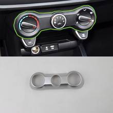For Kia K2/Rio 2017 Interior Cheap Car Accessories Decoration ABS Air Condition Adjust Button Frame Cover Trim Car Styling цена 2017