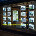 (Pack/12units) A3 Daul Sided Illuminated Real Estate Listing Cable Suspended Window Displays for Real Estate,Properties Agent