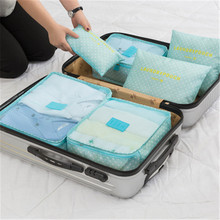 6 Pieces Travel storage bag set of six large suitcase travel clothes underwear finishing package