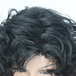Image 2 - StrongBeauty Womens wig Black/Dark brown Medium Curly Hair Natural Synthetic Full Wigs