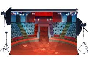 Image 1 - שלב אורות אדום שטיח רקע Bokeh הניצוץ Ligths קרקס הצג נצנץ כוכבים פנים תיאטרון רקע