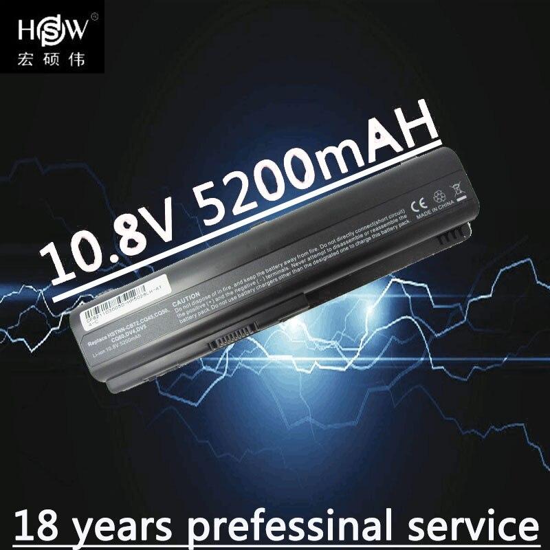 HSW Batterie D'ordinateur Portable pour HP DV4 DV5 DV6 G71 G50 G60 G61 G70 DV6 DV5T HSTNN-IB72 HSTNN-LB72 HSTNN-LB73 HSTNN-UB72 batteria akku