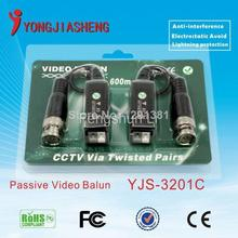 Twisted video balun passive UTP balun BNC CAt5 cctv twisted pair free shipping