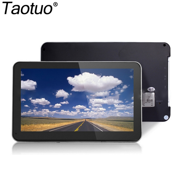 7 Polegadas HD de Navegação GPS Do Carro 2015 Novo Mapa CE 6.0 800 M FM Multi-línguas Portátil Auto Toque tela Navegador GPS Satnav