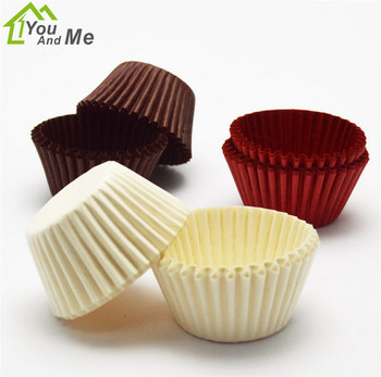 500/1000 Pcs Chocolate Paper Muffin Case Cupcake Liner Baking Cups Mold Cake Stand Decorating for Wedding Party Supplier 12 pcs silicone cake muffin chocolate cupcake liner baking cup cookie mold newest hot search