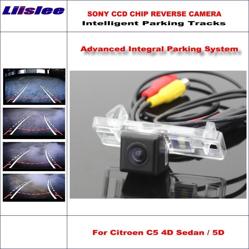 Liislee HD CCD SONY Rear Camera For Citroen C5 4D Sedan 5D Hatchback SW Intelligent Parking