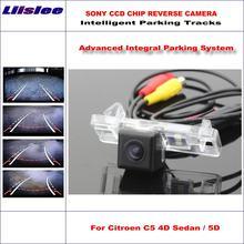 Liislee hd ccd sony задняя камера для citroen c5 4d Седан/5d