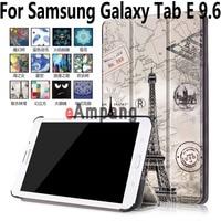 Para Samsung Galaxy Tab 9.6 Caso T560 T561 Acessórios Tablet caso para Samsung Tab 9.6 E Pintado Tampa Inteligente para Tab E