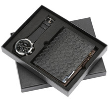 Top Brand Men Watches Luxury Sport Quartz Wrist Watch Zipper Design Wallet for Husband Boyfriend Wristwatches Clock Watch Box