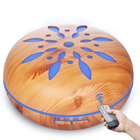 550ml Air Humidifier Aroma Essential Oil Diffuser Wood Grain Ultrasonic Cool Mist Humidifier For Office Home