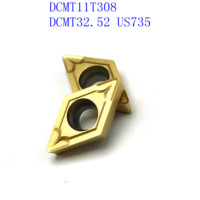 us735 כלי קרביד כלי 20PCS קרביד כלי DCMT11T308 / DCMT32.52 VP15TF / UE6020 / US735 פנימי מחרטה כלי כרסום קאטר NC כלי (3)